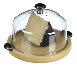Cheese dish with large round cover.